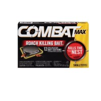 Combat Max Small Roaches Roach Killing Bait Stations 12 ea [023400519101]