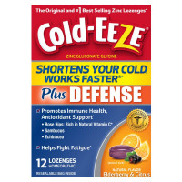 Cold-Eeze Plus Defense Cold-Shortening Lozenges, 12 ea [091108305517]