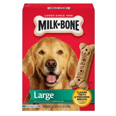 Milk-Bone Original Dog Treats Biscuits for Large Dogs 24 oz [079100514113]