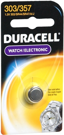 Duracell Silver Oxide Battery Watch/Electronic 1.5 Volt 303/357 1 Each [041333130095]