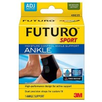 FUTURO Sport Moisture Control Ankle Support, Adjustable 1 ea [051131200579]
