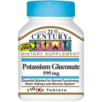21st Century Potassium Gluconate 595 mg Tablets 110 ea [740985213872]