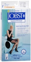 JOBST SupportWear Knee High Stockings 8-15 mmHg Ultra Sheer Classic Black Small 1 Pair [035664192327]