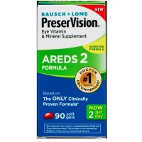 Bausch & Lomb Preser Vision Eye Vitamin & Mineral Supplement AREDS 2 Formula Softgels 90 ea [324208697900]