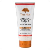 Tree Hut Oatmeal Scrub for Sensitive Skin, Vanilla & Honey 6 oz [075371004612]