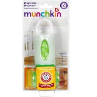Munchkin Arm & Hammer Diaper Bag Dispenser with Bags, Lavender Scent, Colors May Vary 1 ea [735282113024]