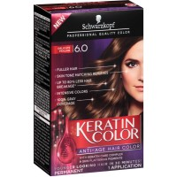 Schwarzkopf Keratin Color Anti-Age Hair Color, Delicate Praline [6.0] 1 ea [017000127965]