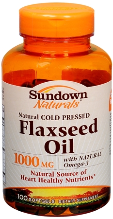 Sundown Naturals Flaxseed Oil 1000 mg Softgels 100 Soft Gels [030768011383]
