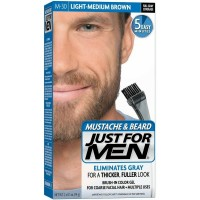 JUST FOR MEN Color Gel Mustache & Beard M-30 Light-Medium Brown 1 Each [011509049100]