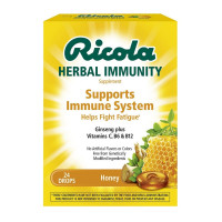 Ricola Immune Support Lozenges, Honey, 24 ea  [036602311596]