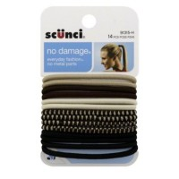 Scunci Ponytail Holders, Neutral 14 ea [043194913152]