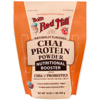 Bob's Red Mill Chai Protein Powder Nutritional Booster 16 oz [039978003485]