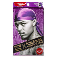 Kiss Red Power Wave Velvet Luxe Durag, Purple 1 ea [731509775600]