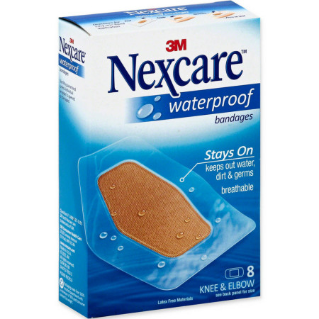 Nexcare Waterproof Knee & Elbow Bandages 8 Each [051135813874]