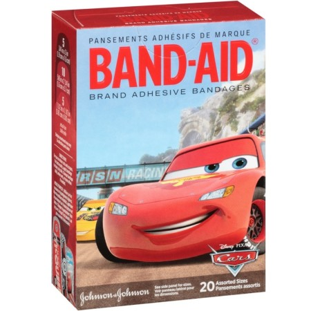 BAND-AID Bandages Disney Cars Assorted Sizes 20 Each [381371046461]