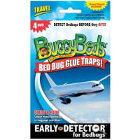 BuggyBeds Bed Bug Glue Traps For Traves 4 ea [857999003211]