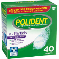 Polident for Partials Clean & Protect Cleanser Tablets 40 ea [310158033103]