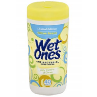 WET ONES Antibacterial Hands Wipes, Citrus 40 ea [076828046728]