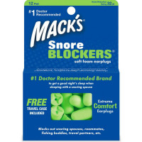 Mack's Snore Blockers Soft Foam Earplugs 12 Pairs [033732028103]