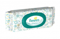 Pampers Baby Wipes Sensitive, W/Fitment, 56 count [037000870760]
