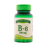Nature's Truth Vitamin B-6 100 mg Tablets, 100 ea [840093101280]