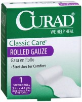 Curad Classic Care Rolled Gauze 2 Inches X 4.1 Yards 1 Each [080196300139]