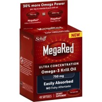 Schiff MegaRed Ultra Concentration Omega3 Krill Oil Softgels 750mg 40 ea [020525951861]