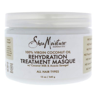 Shea Moisture 100% Virgin Coconut Oil Rehydration Treatment Masque for Unisex Masque, 12 oz [764302204633]