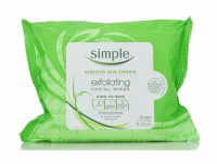 Simple Exfoliating Facial Wipes 25 Each [087300700045]