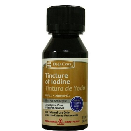 De La Cruz Tincture of Iodine 1 oz [324286153015]