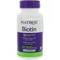 Natrol Biotin Beauty Maximum Strength, 10,000 mcg Tablets 100 ea [047469053963]