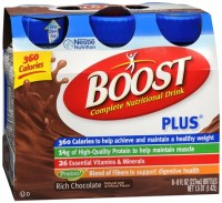 BOOST PLUS Nutritional Energy Drinks Chocolate 48 oz [041679932667]