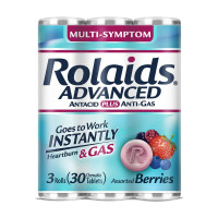 Rolaids Advanced Strength Antacid Plus Anti Gas Tablets Rolls, 3 Rolls 1 ea [041167104033]