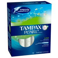 Tampax Pearl Plastic Super Abosrbency Tampons, Unscented 18 ea [073010379084]