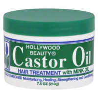 Hollywood Beauty Castor Oil Hair Treatment, with mink 7.5 oz [045836006000]