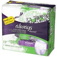 Always Discreet Moderate Absorbency Incontinence Underwear, Extra Large 17 ea [037000887355]