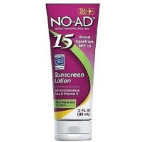 NO-AD Sunscreen Lotion SPF 15 3 oz [897640002804]