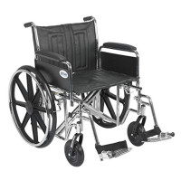 "Drive Medical Sentra EC Heavy Duty Wheelchair with Various Arm Styles and Front Rigging Options, Black, Bariatric 22"" - 1 ea  [822383191942]"