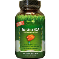 Irwin Naturals Garcinia Hca Fat Reduction Diet Supplement Soft Gels 90 ea [710363583347]