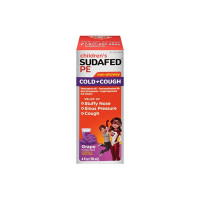 SUDAFED PE Children's Cold & Cough Liquid Grape, 4 oz [300450538048]