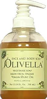 Olivella Virgin Olive Oil Face and Body Liquid Soap 10.14 oz [764412260109]