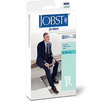JOBST SupportWear Socks For Men Knee High 8-15 mmHg Navy X-Large 1 Pair [035664103392]
