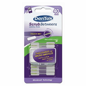 DenTek Scrub Betweens Dental Picks 40 ea [047701002544]