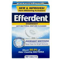 Efferdent PM Overnight Anti-Bacterial Denture Cleanser Tablets 90 ea [814832015923]