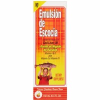 Emulsion De Escocia Cod Liver Oil, Strawberry Banana Flavored 6.50 oz [042279572659]