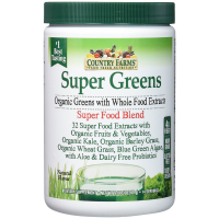 Country Farms Super Greens Drink Mix, Natural Flavor 9.88 oz [035046092672]