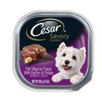 Cesar Canine Cuisine Savory Delights Filet Mignon Flavor with Bacon & Potato in Meaty Juices 3.50 oz [023100102665]