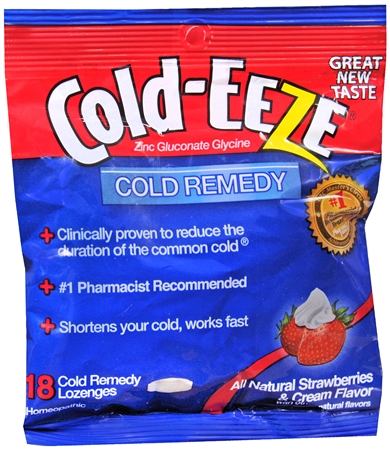 COLD-EEZE Lozenges Natural Strawberries and Cream 18 Each [091108103007]