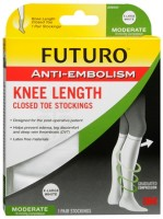 FUTURO Anti-Embolism Stockings Knee Length Closed Toe 18mm/Hg X-Large Regular White 1 Pair [382252095004]