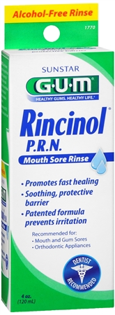GUM Rincinol P.R.N. Mouth Sore Rinse 4 oz [070942302418]
